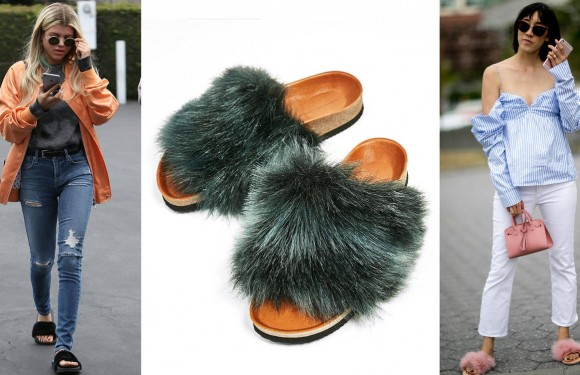 Sandalias con pelo, moda otoño, blog palacio de hielo
