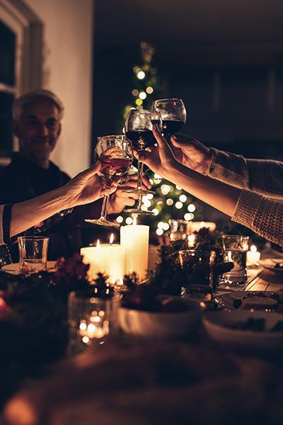 Decoración mesa de Navidad, palacio de hielo