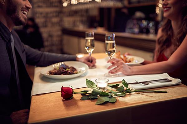 Cena para san valentín, blog Palacio de hielo