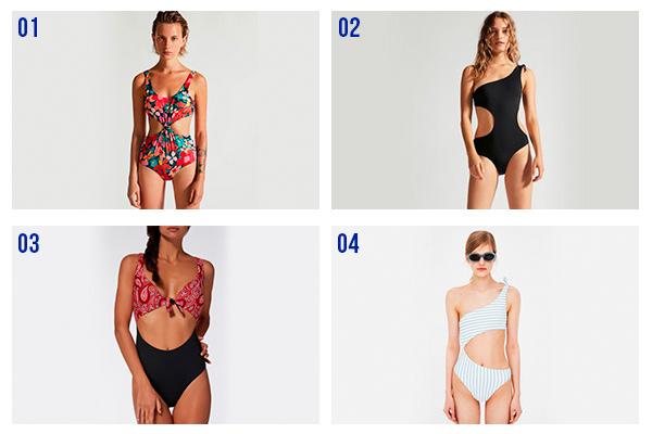 Trikini y bañadores asimétricos
