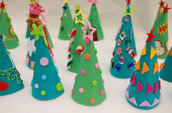 árbol de navidad de cartulina