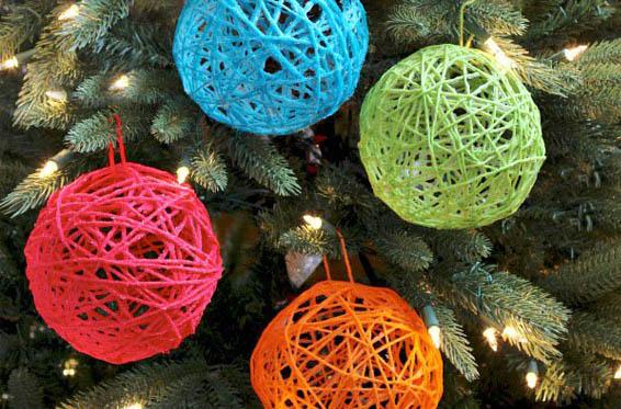bolas de navidad de cuerda
