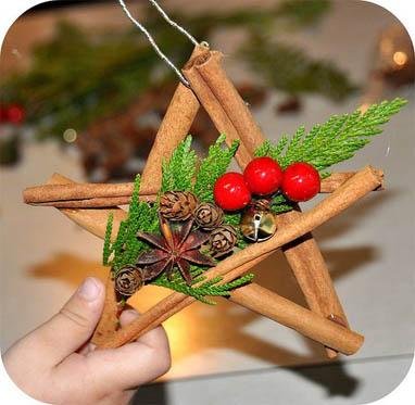 estrella de canela para árbol de navidad
