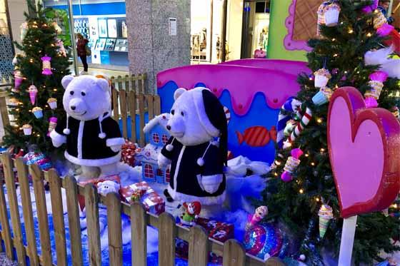show navideño con muñecos