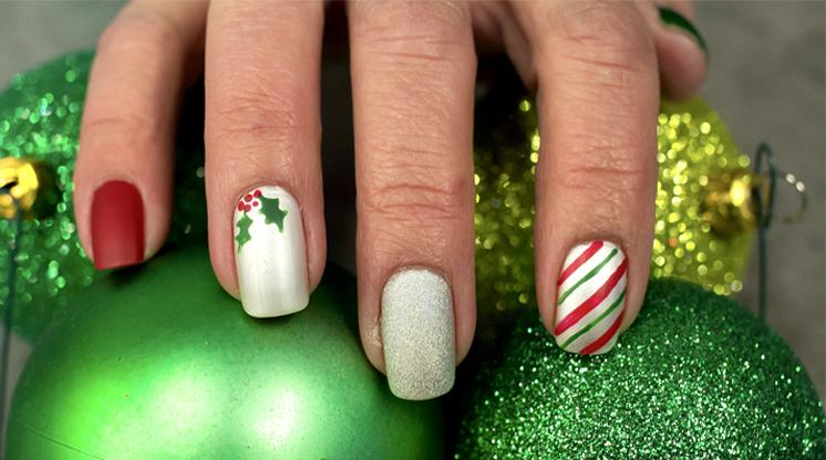 Tendencias en uñas para Navidad